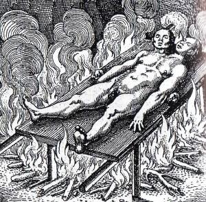 I filosofi attribuiscono alla materia fredda e umida il carattere femminile (Luna) e a quella calda e secca il carattere maschile (Sole). L'androgino, dunque incorporerebbe in se tutti e quattro gli elementi – Michael Maier, Atalanta fugiens, Ottenheim, 1618.
