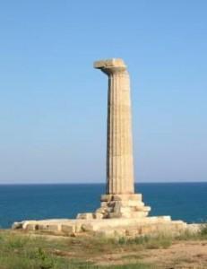 Colonna superstite del tempio di Hera Lacinia a Crotone